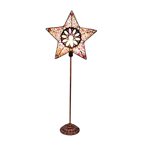 Water cup Modern Table lamp Home Decoration Retro Color Stars Floor Lamp Creative Study Living Room Bedroom Bedside Floor Lamp Reading Lamp (Color : Push Button Switch, Size : Lar