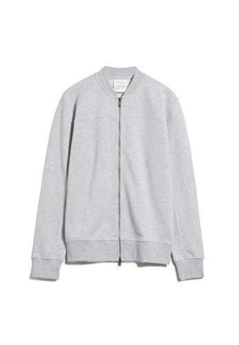 ARMEDANGELS AALRIK - Herren Sweatjacke aus Bio-Baumwolle XL Grey Melange Sweat Cardigan Regular fit