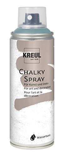 Kreul 76355 - Chalky Spray sir petrol, 200 ml, matte Sprühfarbe mit Kreideoptik auf Wasserbasis, hochpigmentiert und wasserfest, für Innen und Außen