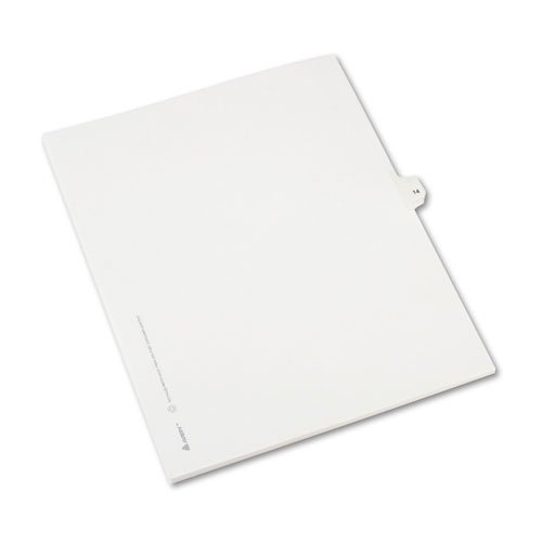 Preprinted Legal Exhibit Side Tab Index Dividers, Allstate Style, 10-Tab, 14, 11 x 8.5, White, 25/Pack