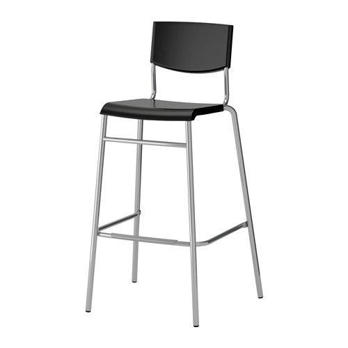 Ikea Stig barstool blacksilver