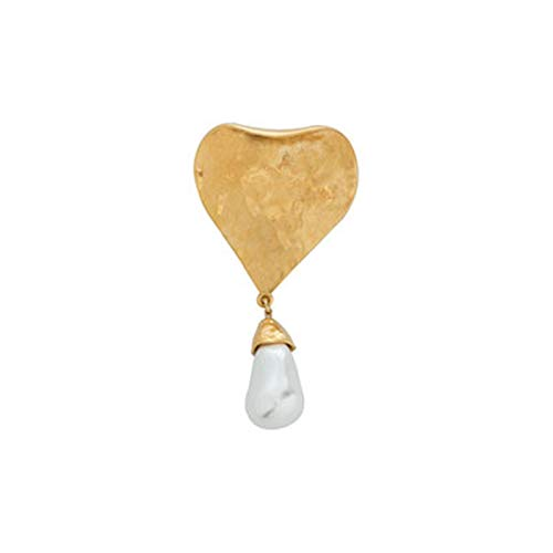 Nuevo broche de Metal con geometría simple Vintage, broche con forma de cerradura con llave para mujer, joyería de moda para fiestas, accesorios unisex