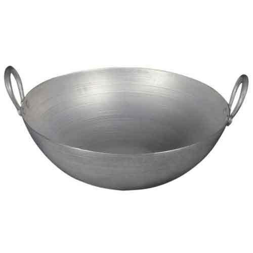 PLANET 007 Aluminium Regular Karahi Cooking Kadai Cooking Wok Capacity 1.000 Litre