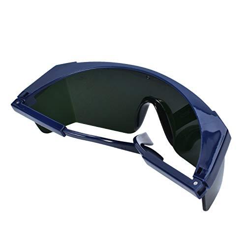 Mufly Schweißerbrille Schweißer Sicherheitsbrillen,klappbar,Anti-Flog,Anti-Shock,Blendschutz,Schutzgläser für Schweißer mit transparenter und schwarzer Brille(IR5.0) - 11