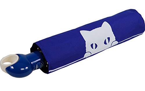 Knirps Mini Taschenschirm Floyd Duomatic Auf-Zu-Automatik - Baby Cat