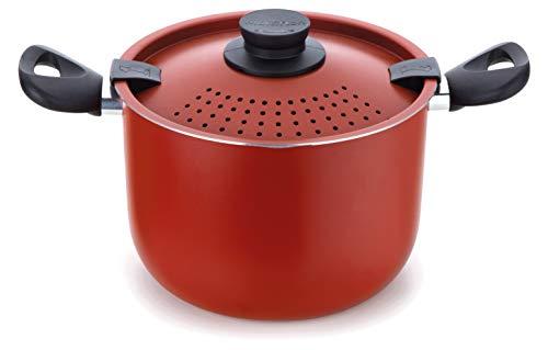 Espagueteira Colapasta 22 Centímetros Vermelho Aluminio Antiaderente Linha Versátil Multiflon