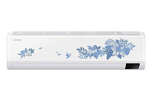 Samsung 1.5 Ton 5 Star Inverter Split AC (Copper, Convertible 5 in 1, HD Filter, 2021 Model, Floral pattern, AR18AYNYATBNNA, White)