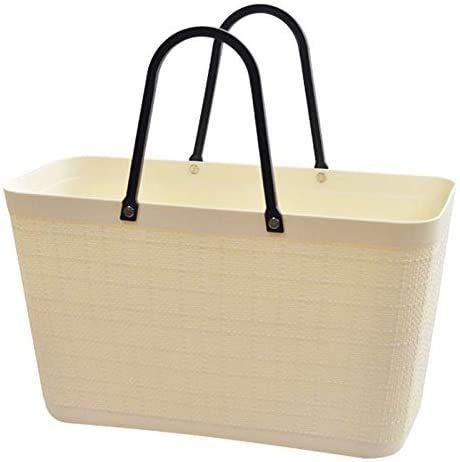 WLD Contenedores de pan Canasta de compras portátil grande para el hogar Canasta de compras de supermercado grande Canasta de almacenamiento de ratán Canasta de almacenamiento de refrigerios y picnic