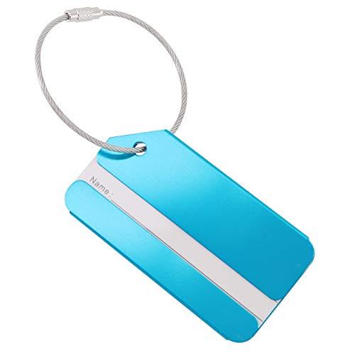Qualität Aufkleber Tasche Zwei Lila Violetta Hand Taschen In Blau FÜR Handtasche Id Anhänger Rad Beschriftung (Himmel blau 2Pcs)