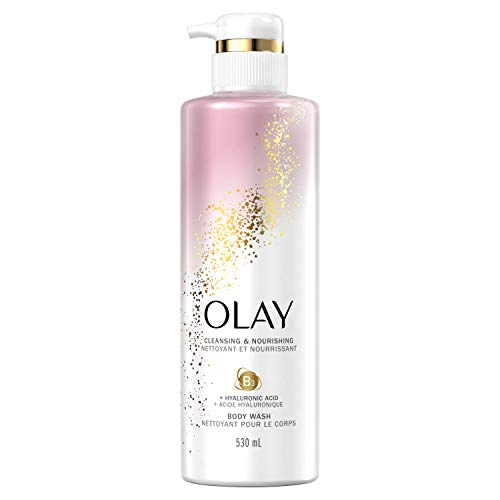 Olay Body Wash with Hyaluronic Acid and Vitamin B3, Cleansing & Nourishing, 17.9 Fl Oz (Pack of 4)