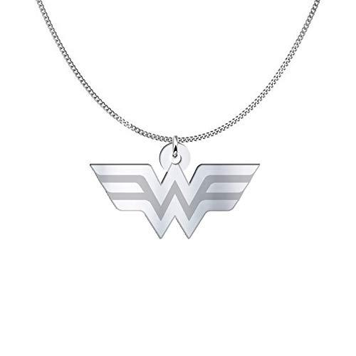 Collar de Wonder Woman, plata esterlina o chapado en oro de 18 quilates, joyería de regalo de amistad, mejores amigos