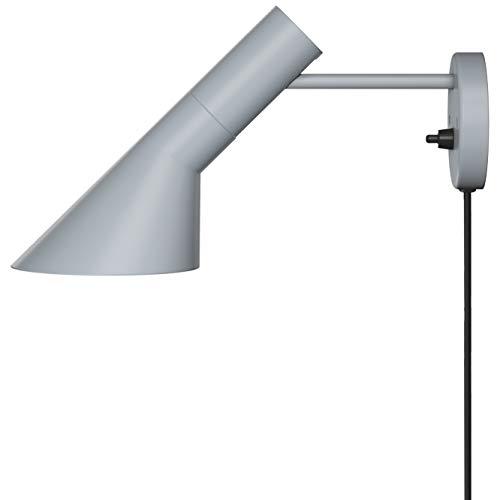 AJ Wall Lamp, Louis Poulsen, Lámpara de Pared Diseñada por Arne Jacobsen (Gris Claro)