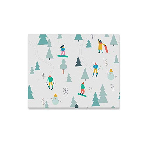 Yushg Wandmalereien für Kinder Graceful Skiing Action Wandfarbe Leinwand hängen Wandkunst Dekor Druck Dekor für Zuhause 20x16 Zoll