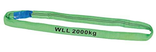 Petex 47202213 Rundschlinge WLL 2.000 kg, Länge 2 m, Umfang 4 m, Grün
