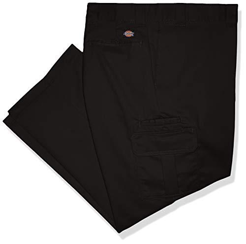 Dickies Men's Regular Straight Stretch Twill Cargo Pant Big-Tall, Black, 48W x 32L