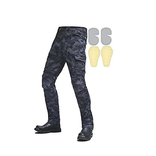 Pantaloni Da Moto Da Donna Pantaloni Per Moto Con Fodera 4 Fodera Staccabile Abbigliamento Quotidiano, Giro Locomotiva, Protezione Equestre (Xxs-4xl, M = 30, Formato Europeo)