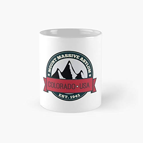 Outl.ast - Mount Mass.ive Asyl.um Crest Classic Mug Birth-day Holi-day Gift Drink Home Kitchen