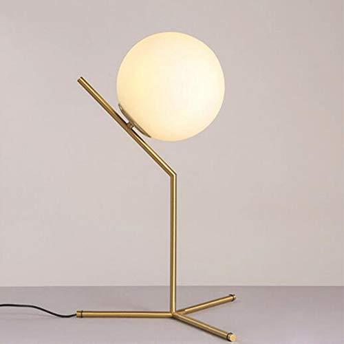 JFHGNJ wandlamp modern goud metaal tafellamp melkglas bal café decoratie lamp studio licht slaapkamer lamp