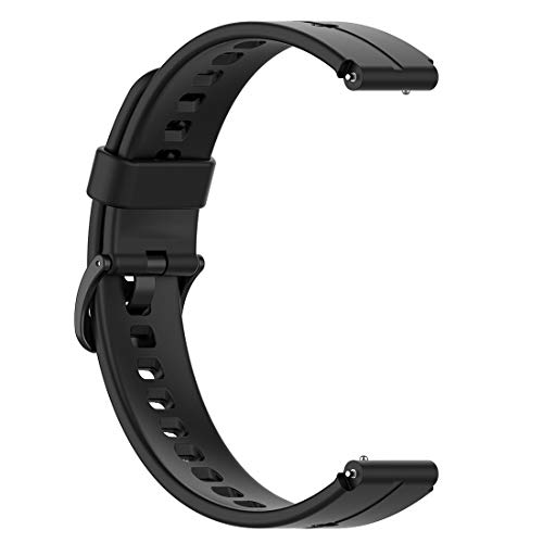 LOKEKE Correa de repuesto para Huawei Talkband B6 – Correa de silicona de repuesto para Huawei Talkband B6/B3 (Siilcone negro)