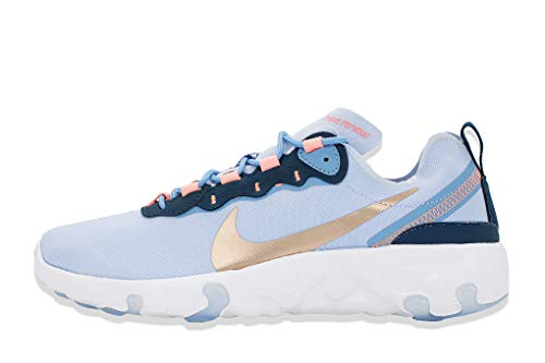 Nike Renew Element 55 BG, Chaussure de Course, Light Marine MTLC Red Bronze Blue Beyond Valerian Blue, 36 EU