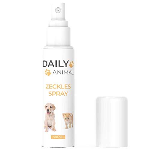 PowerSupps Daily Animal - Zeckles Spray für Hunde & Katzen mit Sofortwirkung - 100 ml Sprühflasche - hochwirksam - Schutz für Ihr Haustier