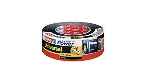 tesa extra Power Universal Gewebeband - Gewebeverstärktes Ductape zum Reparieren, Befestigen, Bündeln, Verstärken oder Abdichten - Schwarz - 50 m x 50 mm
