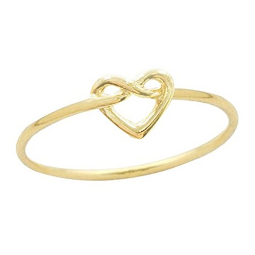 Wrapables infinito Amor Nudo Corazón Anillo, chapado en oro