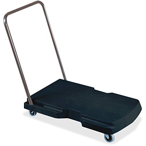 Rubbermaid Commercial Products Triple Trolley Folding Handle Dolly/Cart/Platform Truck with wheels 250 lbs Capacity for Moving/Warehouse/Office FG440000BLA