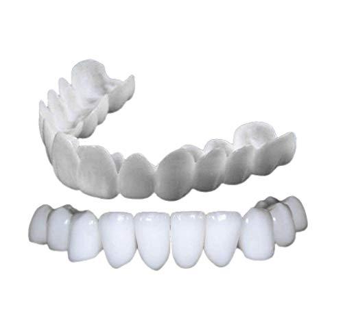 Smile Zahnspange für obere und untere Zähne, zum Aufstecken, perfekte Smile Veneers Comfort Fit Flex Zahnspangen Zahnaufhellung