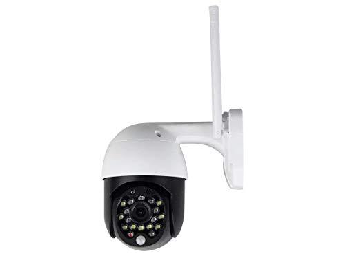 V-TAC Cámara IP inalámbrica con 4 antenas externas IP65, 3 MP, Full HD, visión nocturna, alarma de movimiento, control de aplicación SKU-8989