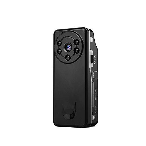 HaWoTEC Kleinste Starlight Mini Kamera für Überwachung Überwachungskamera mit 5-8 m unsichtbare Nachtsicht LED's Glaslinse