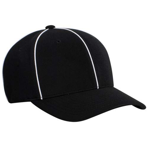 Smitty | HT-100 | Officials Referee Hat | Football Lacrosse (Black, Medium (7 1/4-7 1/2))