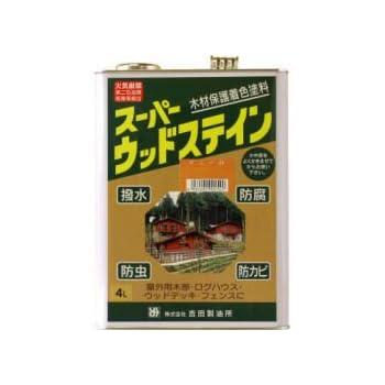 屋外用木材保護塗料 スーパーウッドステイン クリア 4L