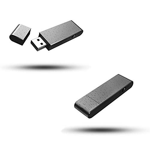 sZeao Portátil U Disco Grabadora de Voz Digital Mini Grabadora de Voz USB, con Activación de Voz Reducción de Ruido USB Memory Stick Un Botón para Grabar/Guardar, para Clases, Reuniones(4GB),4GB