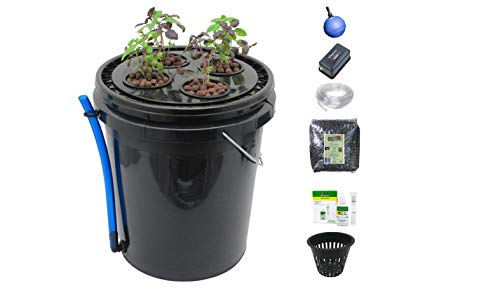 Viagrow V4DWCV 4-Site Hydroponic Deep Water Culture Vegetative System, Black