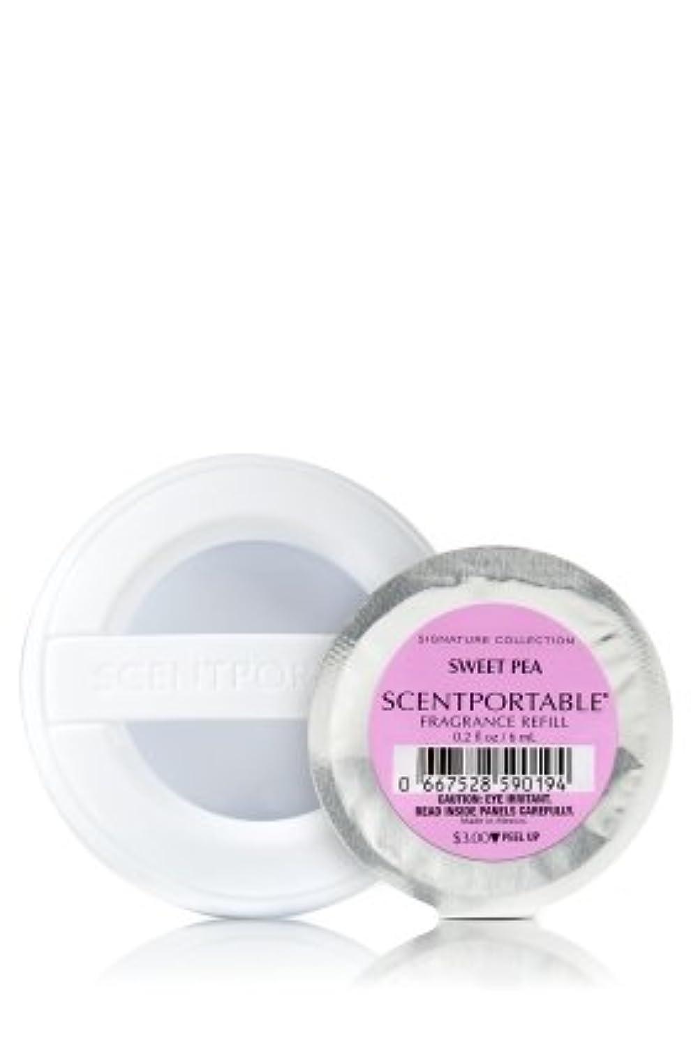 中古工業化する絡み合い[Bath&Body Works] バス&ボディワークス セントポータブル クリップ式芳香剤用 詰め替え スイートピー 6個セット