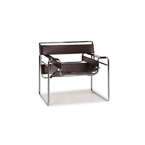 Knoll International Wassily Chair Leather Armchair Brown Dark Brown Marcel Breuer