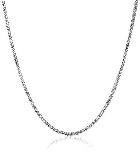 18 Karat 750 Gold Diamantschliff Spiga Weizen Weißgold glänzend Kette - Breite 1.40 mm - Länge wählbar (45)