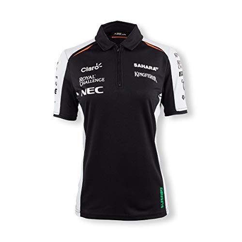 Sahara Force India F1 Team Damen Poloshirt, Schwarz L Schwarz