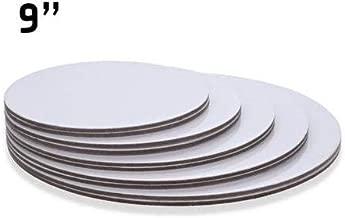 "9"" Inch White 100 Qty, Round Cardboard Cake Board"