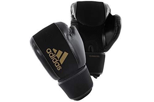 adidas Boxing Gloves Washable Guantes de Boxeo Lavables, Unisex Adulto, Negro y Dorado, Small/Medium