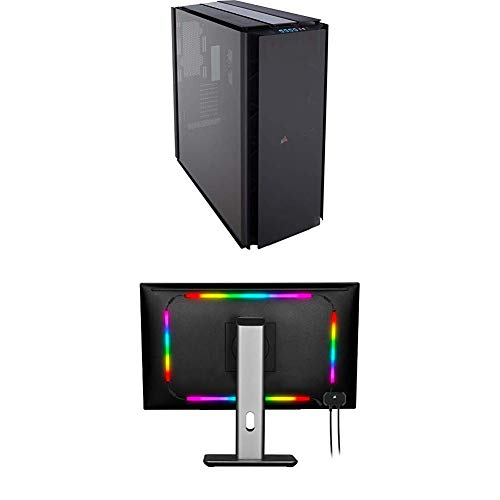 Corsair Obsidian 1000D Super-Tower Case, Smoked Tempered Glass, Aluminum Trim - Integrated Commander PRO Fan and Lighting Controller (CC-9011148-WW)