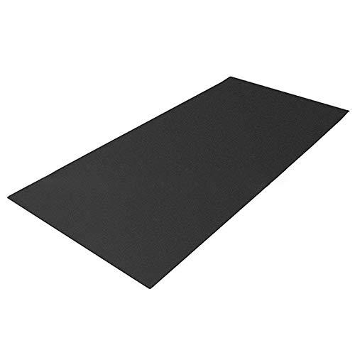 Alfombrilla para equipo de fitness, de alta densidad, para entrenamiento de bicicleta, para suelos y alfombras, resistente al desgaste, 60 x 180 cm (negro)
