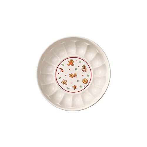 Villeroy & Boch Winter Bakery Delight Plat creux rond, Porcelaine Premium, Blanc/Rouge