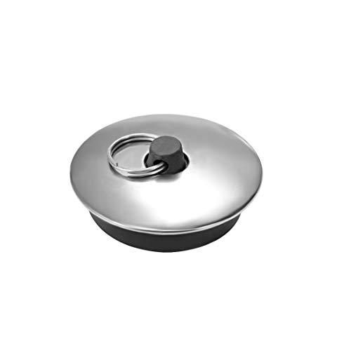 sourcing map Tapón de goma con anillo Tapón de vaciado para Fregadero Bañera Cocina Baño 39-48 mm, 1 Paquete