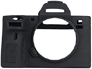 SONY α7 III シリコン カバー ケース 保護 カメラケース クリーニングクロス付き ソニー アルファ A7III 216_1 (ブラック)