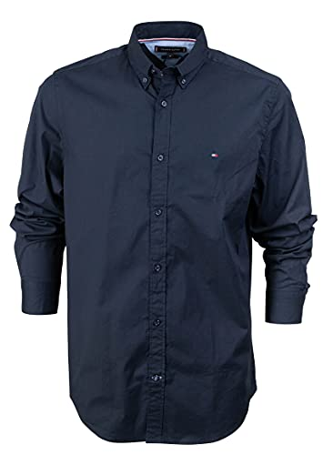 Tommy Hilfiger Core Stretch Slim Poplin Shirt Camicia Sportiva, Blu (Sky Captain 403), Large Uomo