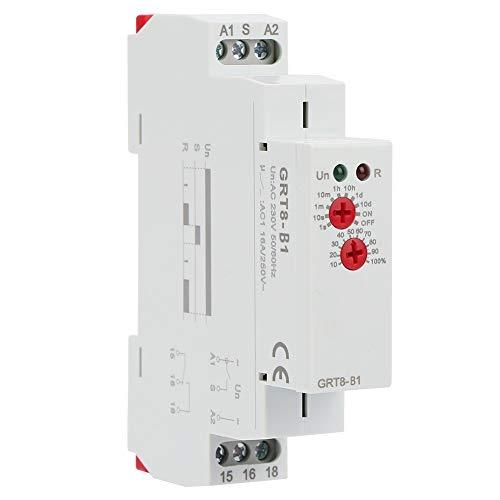 Verzögerungsrelais - GRT8-B1 Mini-Abschaltverzögerung Zeitrelais Zeitrelais DIN-Schienentyp AC 220V