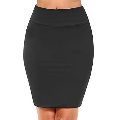 Fashionazzle Women's Casual Stretchy Bodycon Pencil Mini Skirt