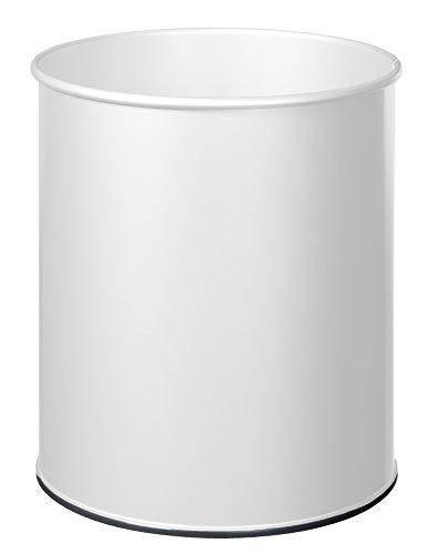 ROSSIGNOL Papea Corbeille A Papier Metal-30L Blanc signalisation, Acier, 34x34x38,5 cm